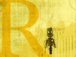 R is for Robot - wp by cogwurx