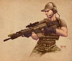 Tier 1 Pew Pew Operator by leonwoon