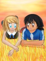 It's fun to be with you. Serena x Ash art by RainbowTailsCan