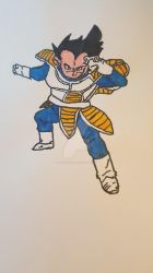 Saiyan Saga Vegeta by Firestorm1991