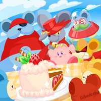Kirby and the Squeak Squad by CubedCake
