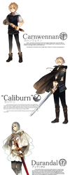 Seiken Ranbu: Carnwennan, Caliburn and Durandal by Cioccolatodorima