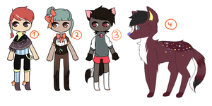 Mixed / Humanoid + Feral Adopts OPEN by Rhomoth