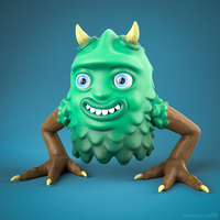 Forest monster 3D-printed toy design by m7