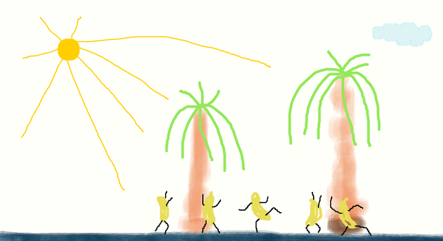 banana party peapol by drme