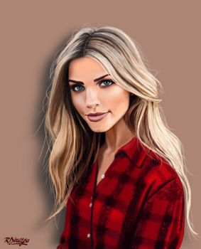 Digital painting - Marina Laswick by RaduIonDinescu