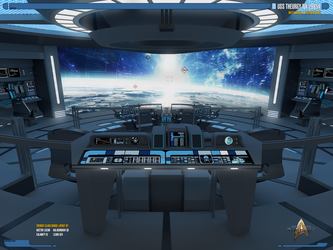USS Theurgy NX-79854 Battle Bridge | Render-02 by Auctor-Lucan