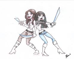 LOST GIRL, Bo and Kenzi by VODKABABY