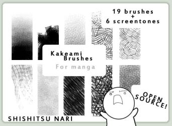 Kakeami Brushes for Manga by N-A-R-I
