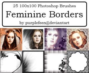 25 100x100 Feminine Borders by purplefeen by purplefeen