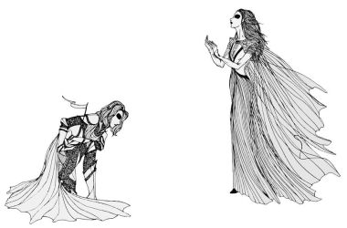 Loras and Margaery by cabins