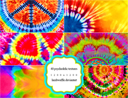 40 Psychedelic Textures by lambwaffle