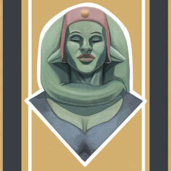 SW Sleeping Twi'lek by Swartist-Art