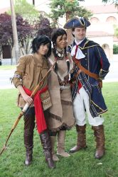 Fanime 2013 - Haytham and Family by prettyfloralbonnet
