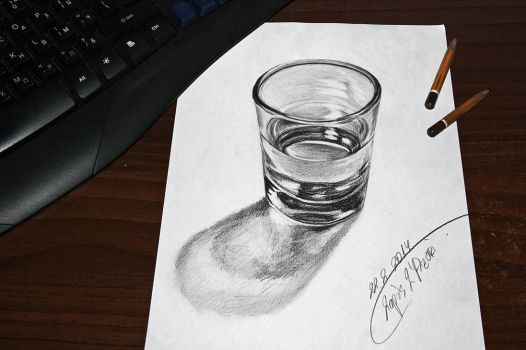 Glass of water 3D by lapis-lazuri