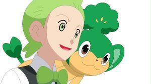 +Cilan and Pansage+ by FoxDemon12
