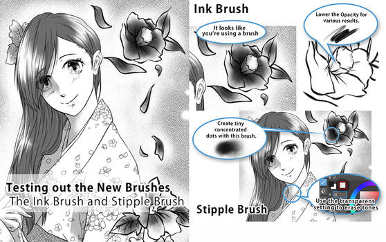 Ink and Sparkle Brush test by medibangadmin