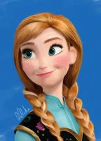 Anna from Disney's Frozen by clarkey-lou