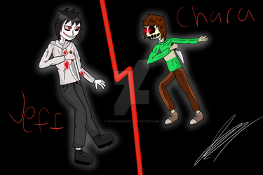Jeff the Killer VS Chara by CrackerHumps