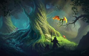 Old Tree Wallpaper by Deligaris