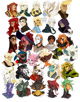 Character Headshots by guild-snail