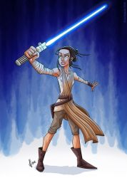 Star Wars - Rey by JoeCostantini
