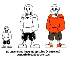 Underswap Papyrus HD Sprites by Addicted2Electronics