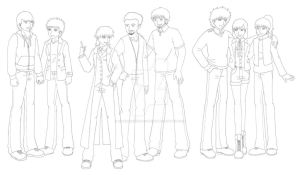 WIP Genderbending Doctor Who by GreenArcherAlchemist