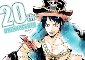 One piece 20th anniversary by zefiar