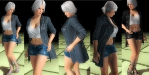 Christie denim shorts by funnybunny666