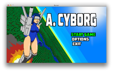 A. CYBORG Title Screen by ksleet