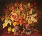 Still-life with leaves by Zrazhevsky-Arkady