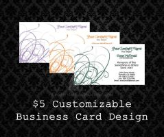 Customizable Business Cards - 02 by PointyHat