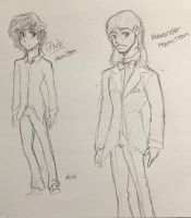 Hamilton Sketches  by Ailizerbee08