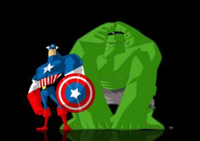 CAP AND HULK by themico
