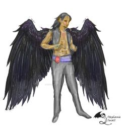 Lucafre the Angel Horathi Shendai Winged Man by StephanieSmall