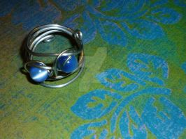 Cat's Eye Spiral ring by beadsofcompassion