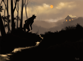 Wolf in the Woods by ANicB