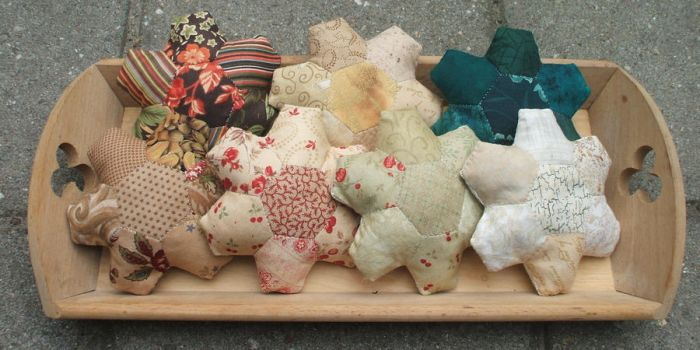 Hexagon Flower pincushions/baby toys by Magical525