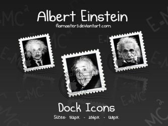 Einstein Dock Icons by flamaster3