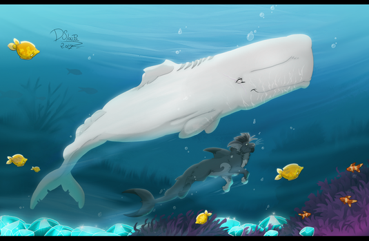 Moby dick by Strawberry-Loupa