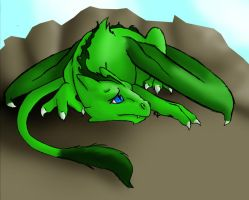 Baby Green Dragon by Kumlay
