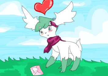 Hmm? A letter? From whom? by GreenShaymin
