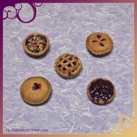 Blueberry Pie Magnet Set by lily-inabottle