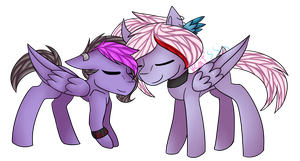 MLP/Commission/Nuzzles by KatsShitsYes