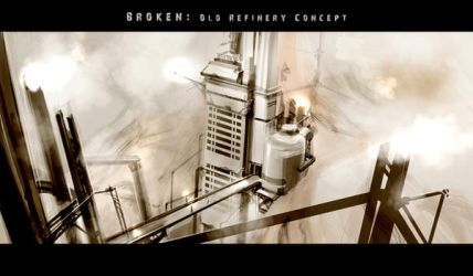 BROKEN- Old Refinery Concept by scruffyronin
