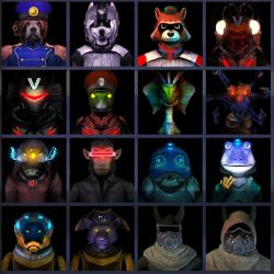 A Few More Starfox Talking Portraits by UndyingNephalim