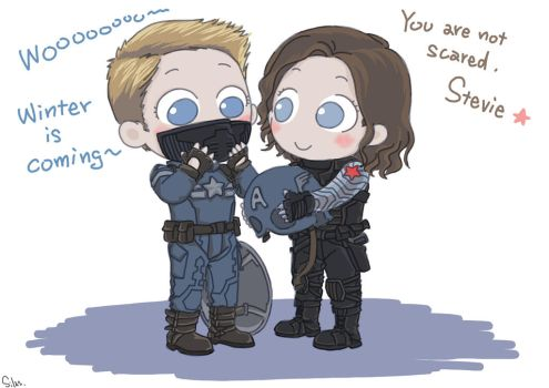 Captain America and Winter Soldier by SilasSamle