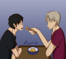 Just a Bite Victuuri by Ahtilak