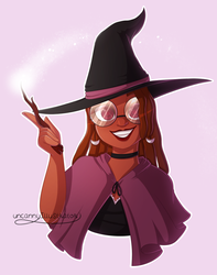 .:Witchy Gal:. by Uncanny-Illustrator